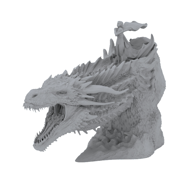 game of thrones dragon 3d print model download