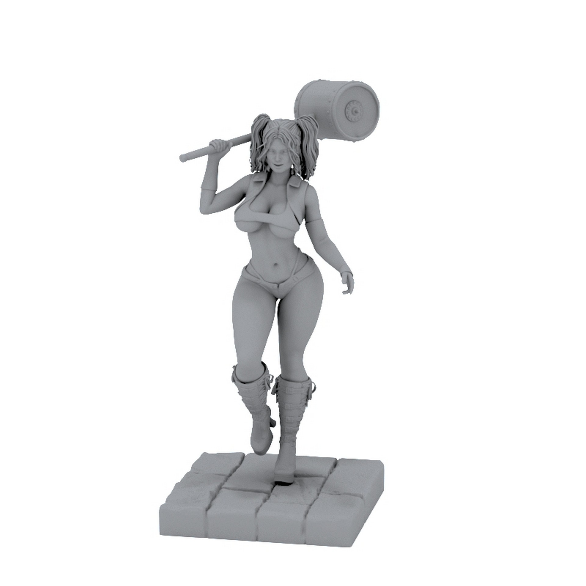 harley quinn 3d model for printing download