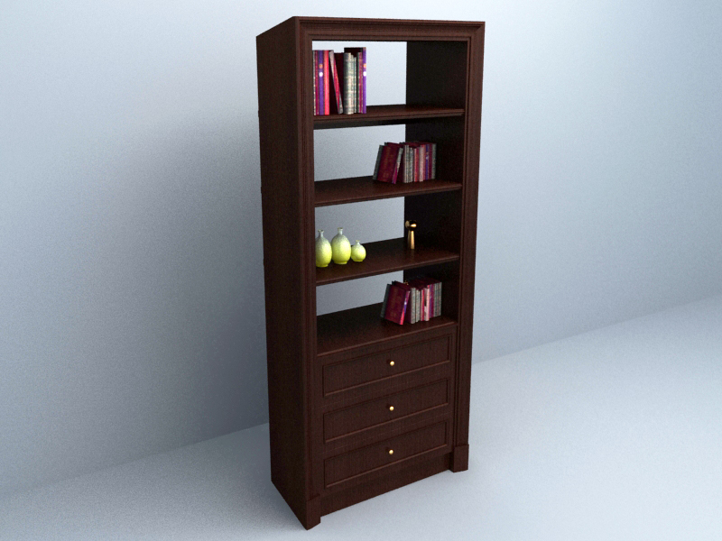 Book Cabinet free 3d model download