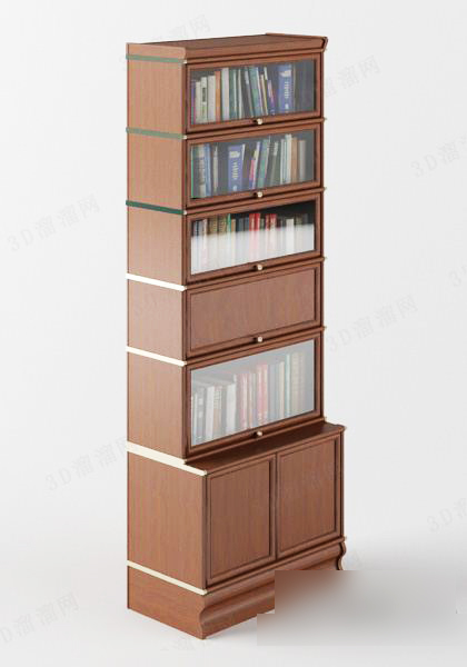Bookrack free 3d model download