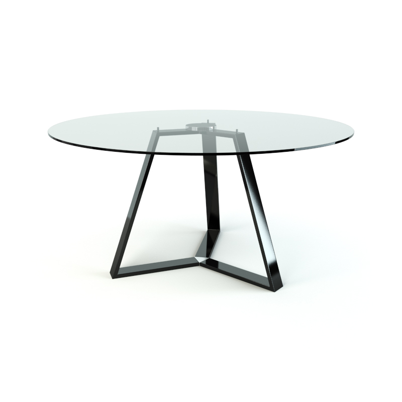 Black coffee table free 3d model download