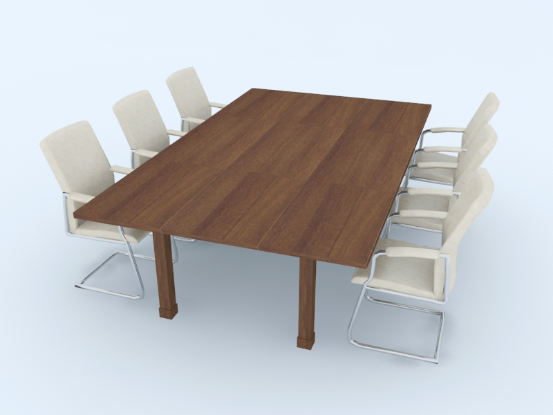 Meeting Table free 3d model download