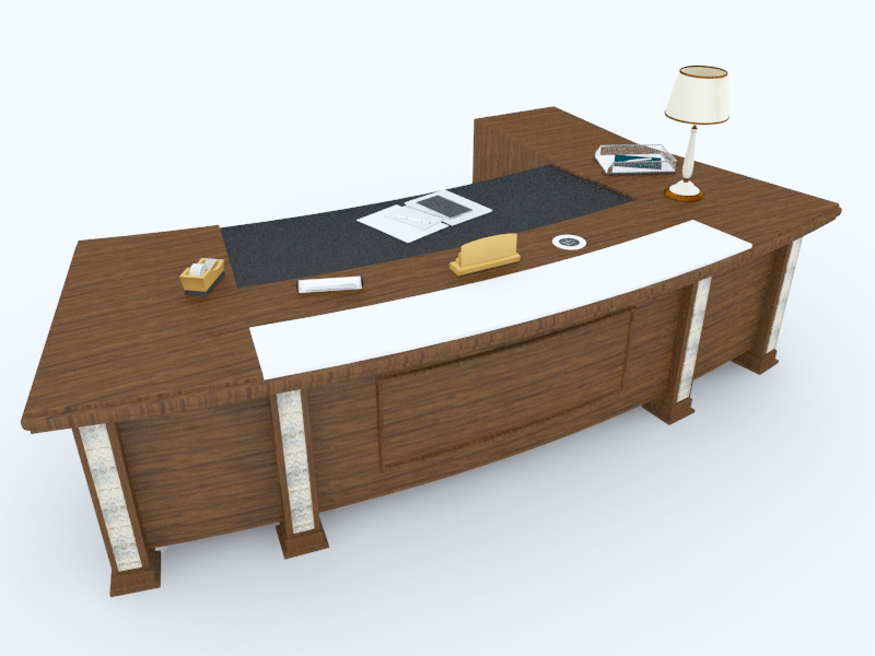 Office Table free 3d model download
