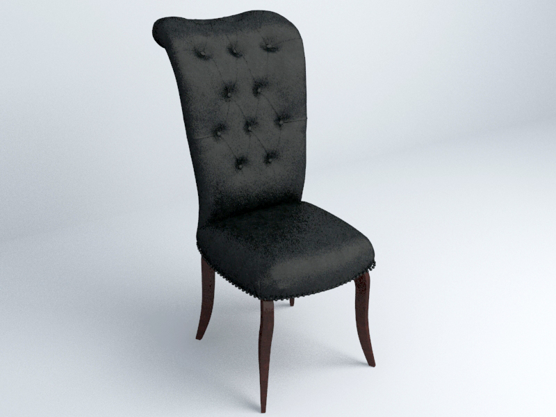 Black chair free 3d model download