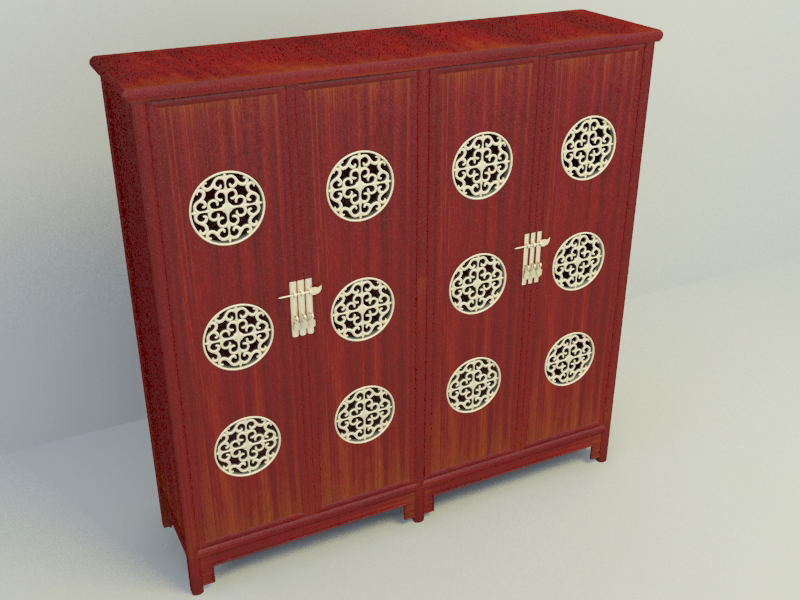 Chinese high cabinet free 3d model download