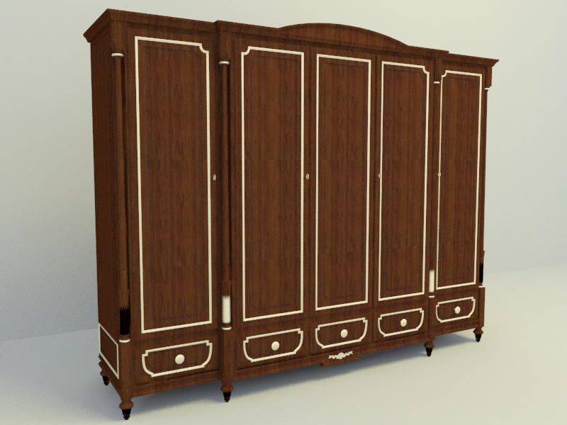 Classical wardrobe free 3d model download