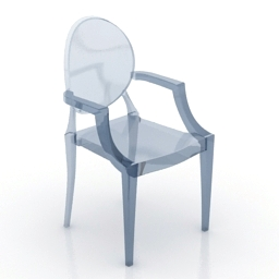 Armchair Ghost chair free 3d model download