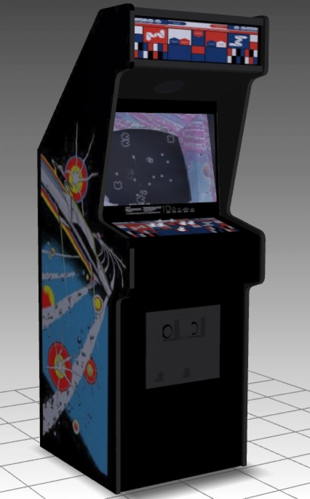 Asteroids Upright Arcade Machine free 3d model download