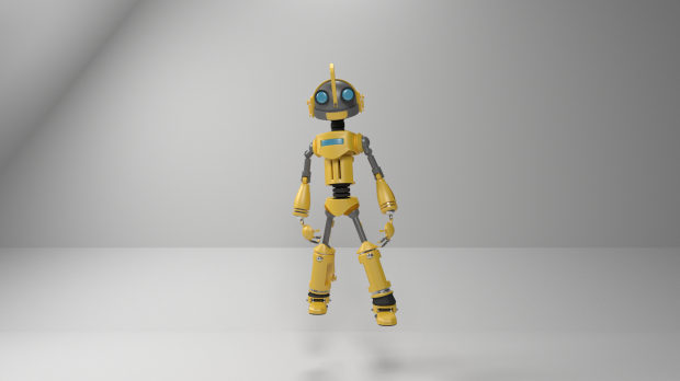 Atom The Optimist Robot free 3d model download