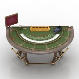 Black Jack table Casino free 3d model download