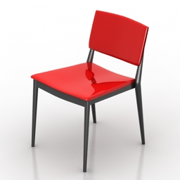 Chair Andreu World Happy free 3d model download