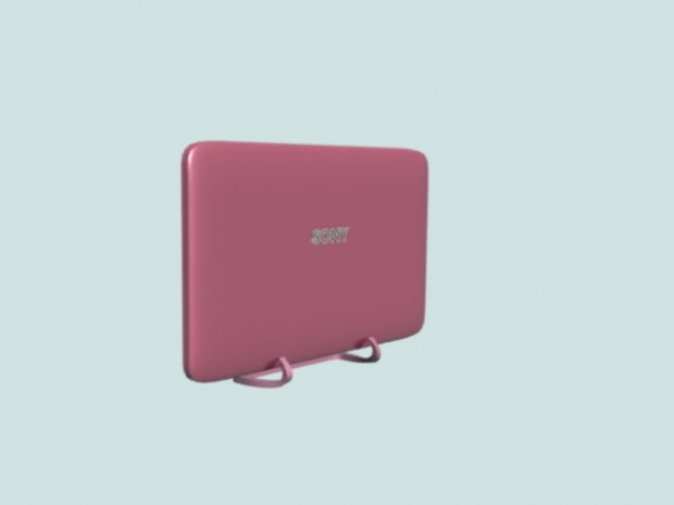Flat smart TV Pink free 3d model download