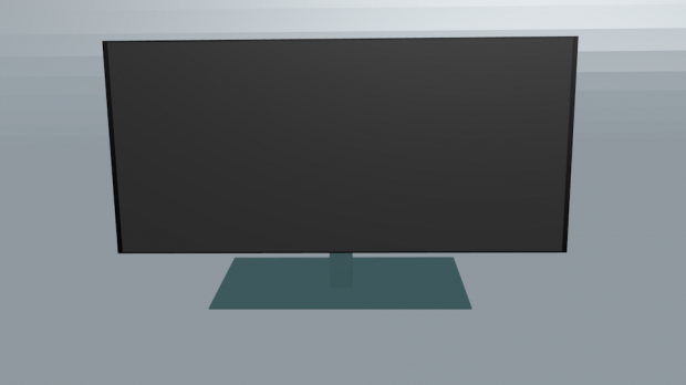 Low-Poly Monitor free 3d model download