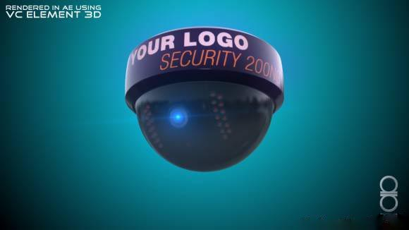ROUND SECURITY CAM free 3d model download