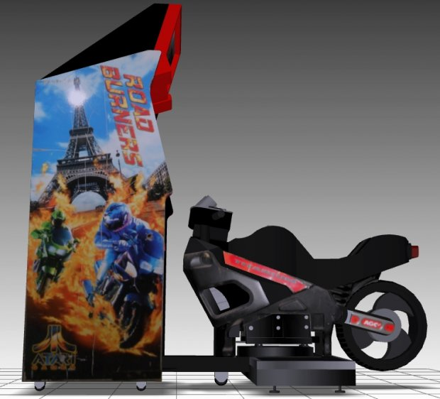 Road Burners Sitdown Arcade Machine free 3d model download