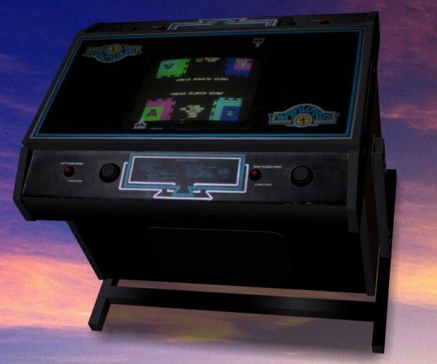 Warlords Cocktail-table Arcade Machine free 3d model download