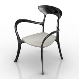 Armchair ceccotti free 3d model download
