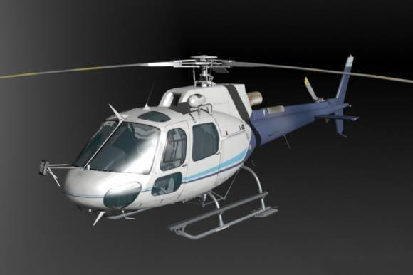AS350B Helicopter free 3d model download
