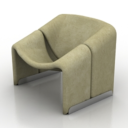 Armchair Groovy free 3d model download