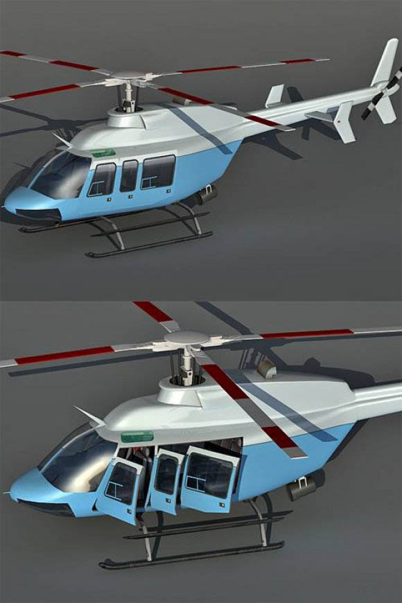 Bell 407 Helicopter free 3d model download