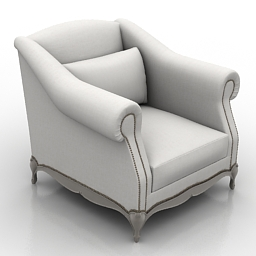 Armchair Moliere free 3d model download