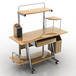 Computer table free 3d model download