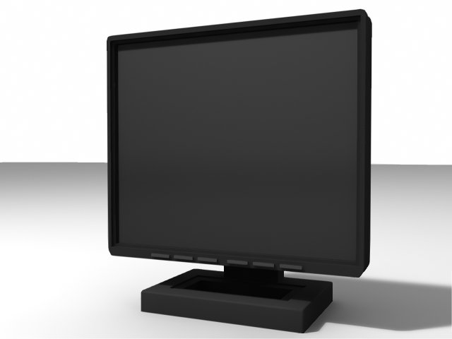 Computer Monitor free 3d model download