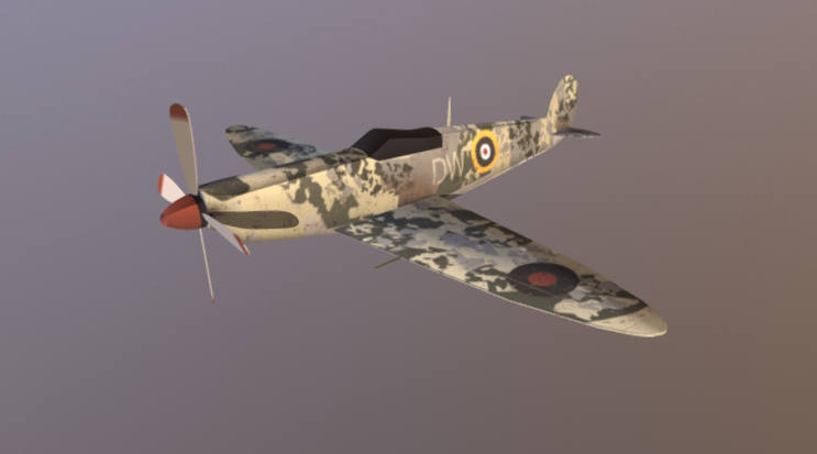 Spitfire free 3d model download