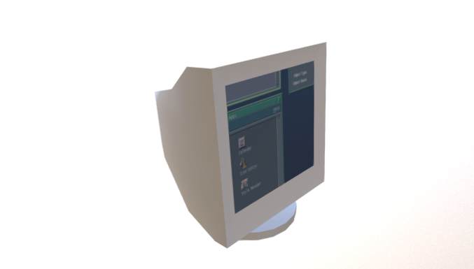 CRT Monitor free 3d model download