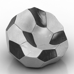 Armchair soccer free 3d model download