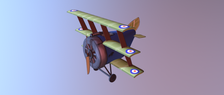 Ww1 sopwith triplane free 3d model download