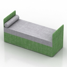 Bed David Oliver Day free 3d model download