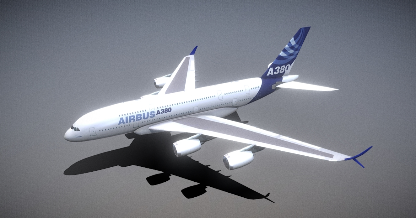 A380 With A380Plus Winglet free 3d model download