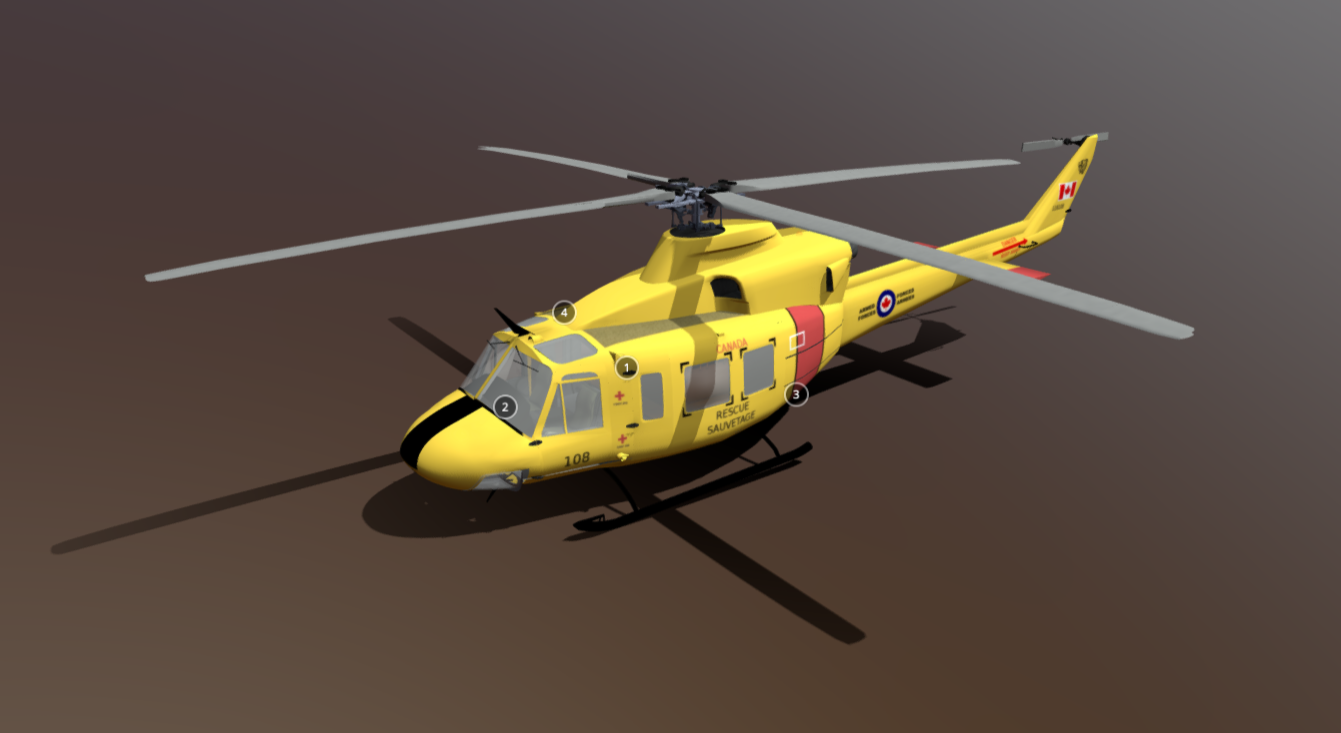 Bell CH-146 Griffon free 3d model download