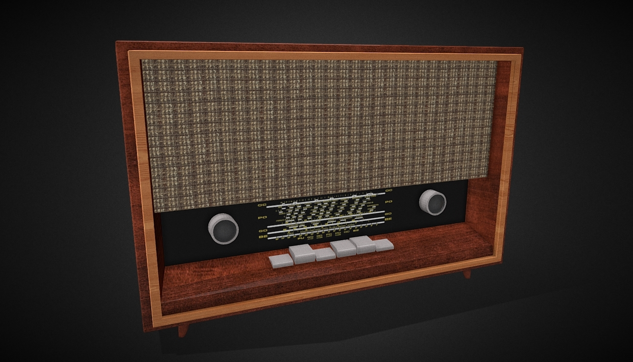 Carmen 3 S-632A2 Radio 1963 free 3d model download