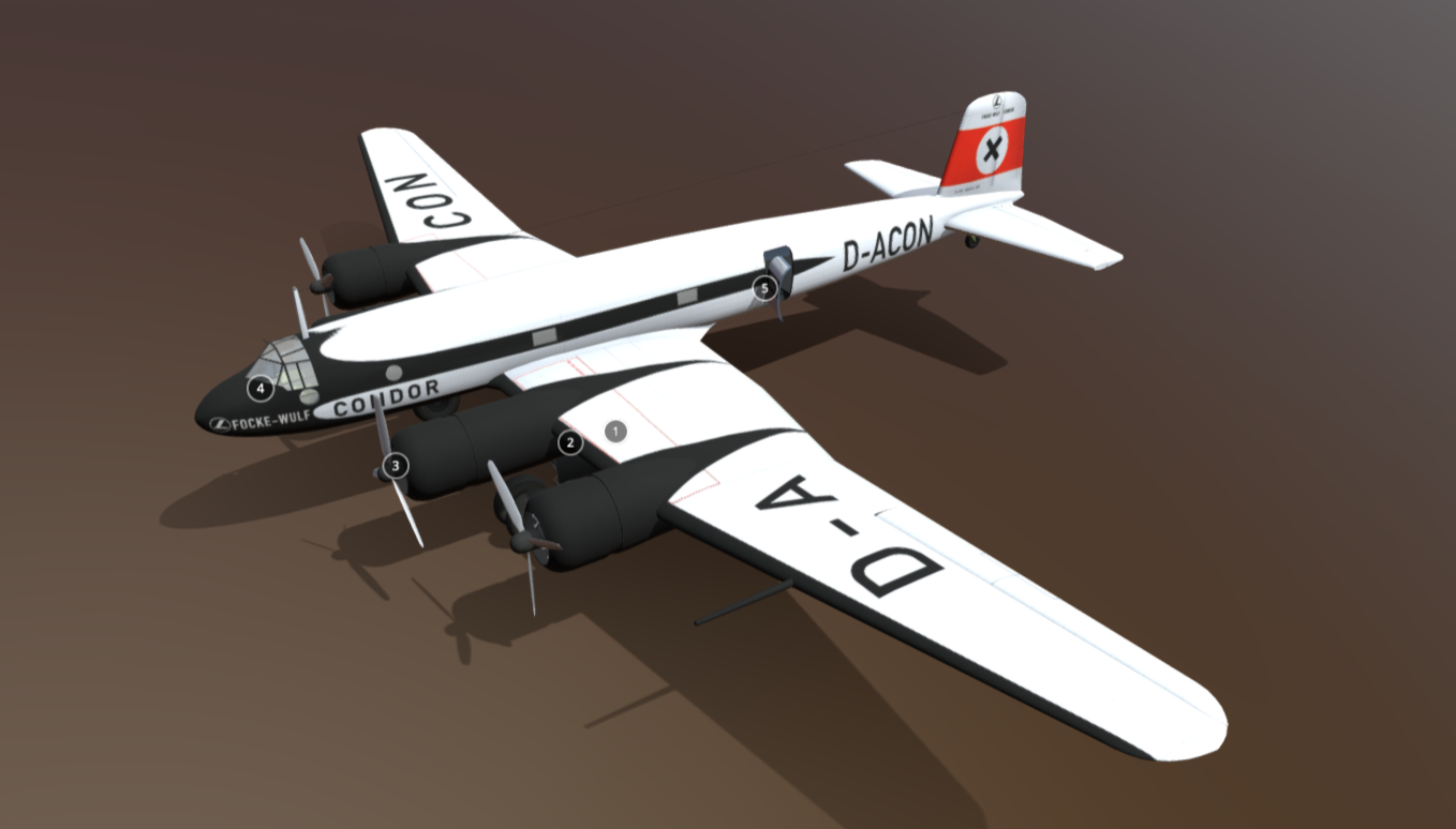 Focke-Wulf Fw 200 free 3d model download
