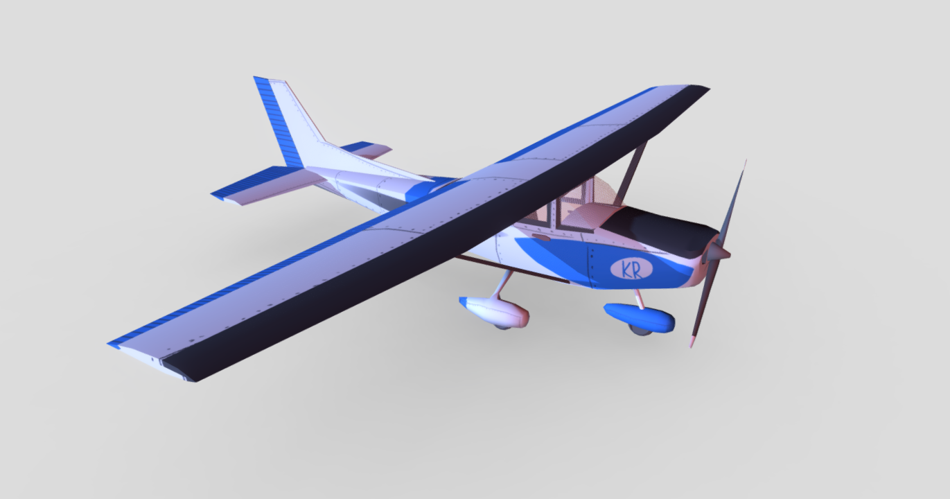Cessna 172Kr free 3d model download