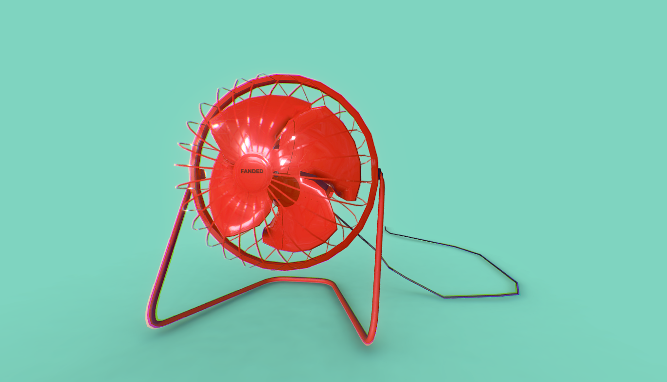 Desktop fan free 3d model download
