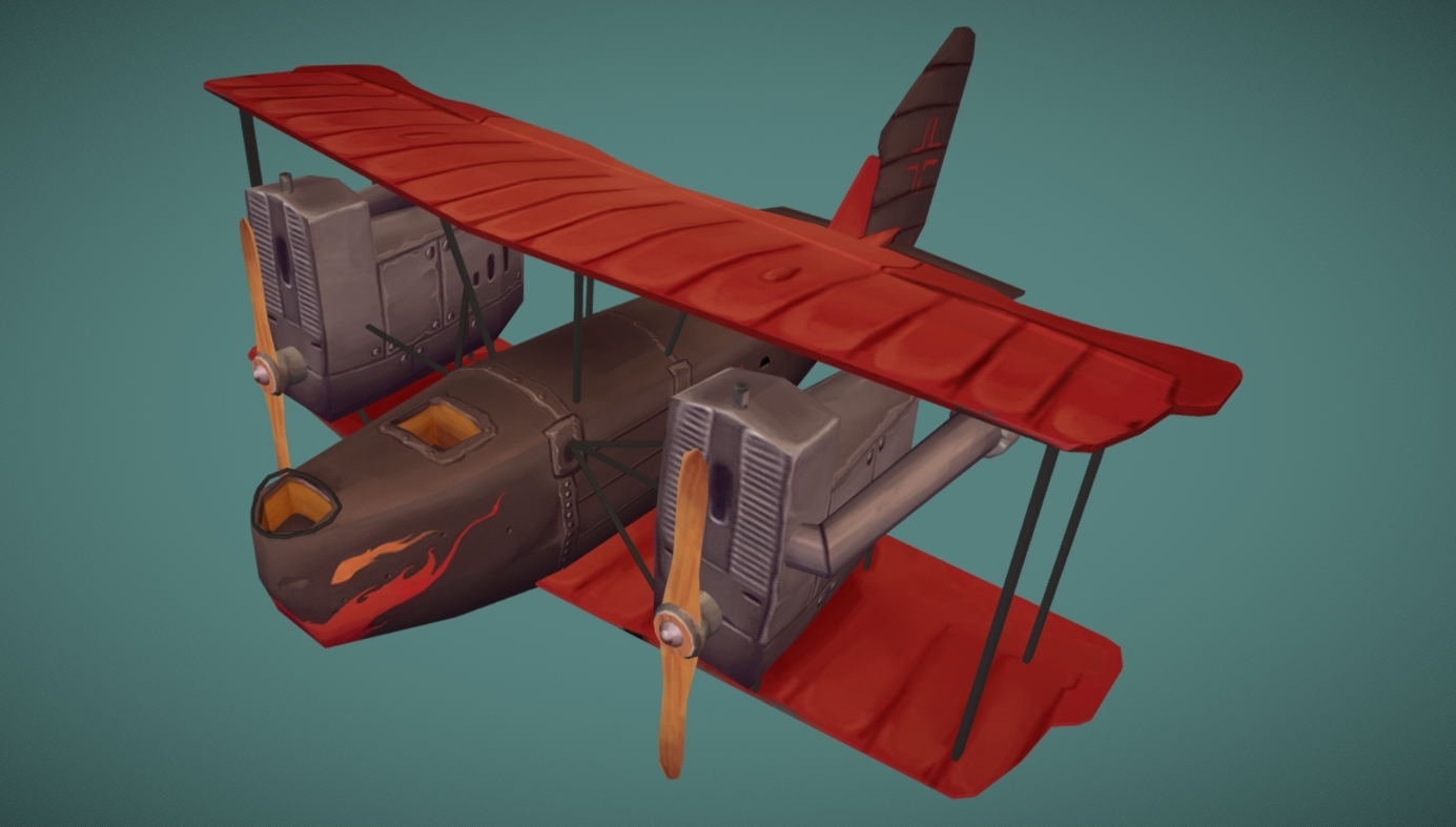 AEG G.IV Late stylized free 3d model download
