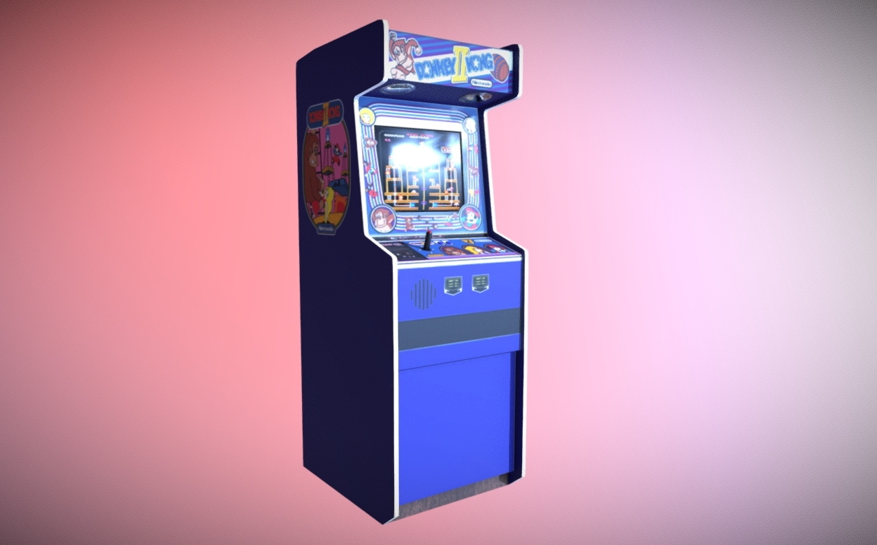 Donkey Kong Arcade Cabinet free 3d model download