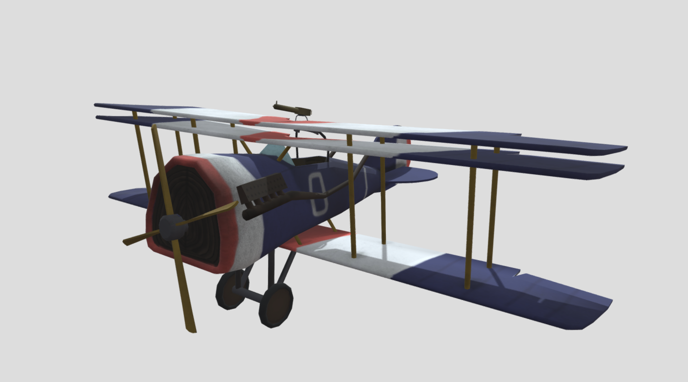Flying Circus plane free 3d model download
