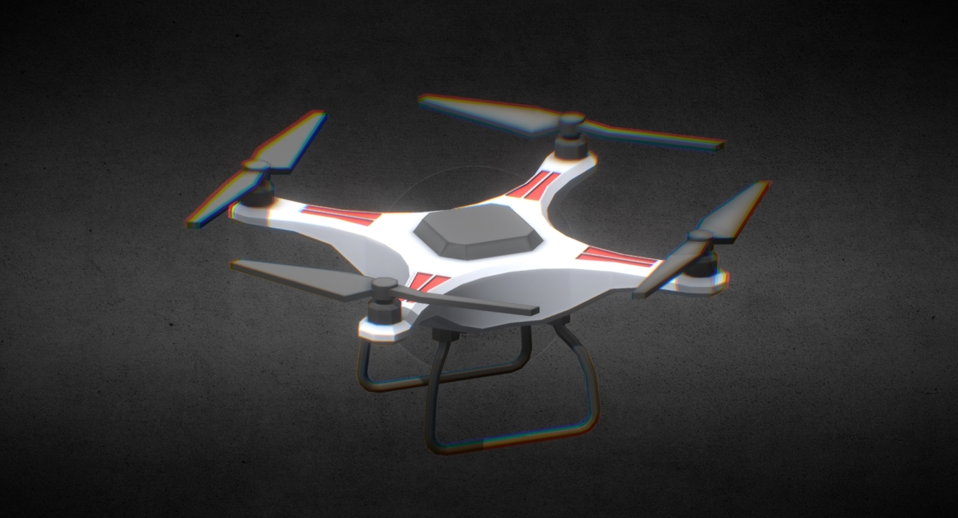 Drone Low Poly free 3d model download