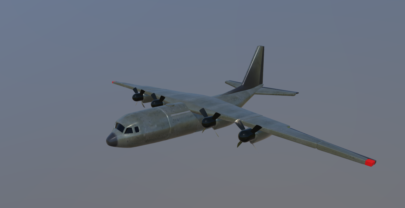 Cargo aircraft free 3d model download