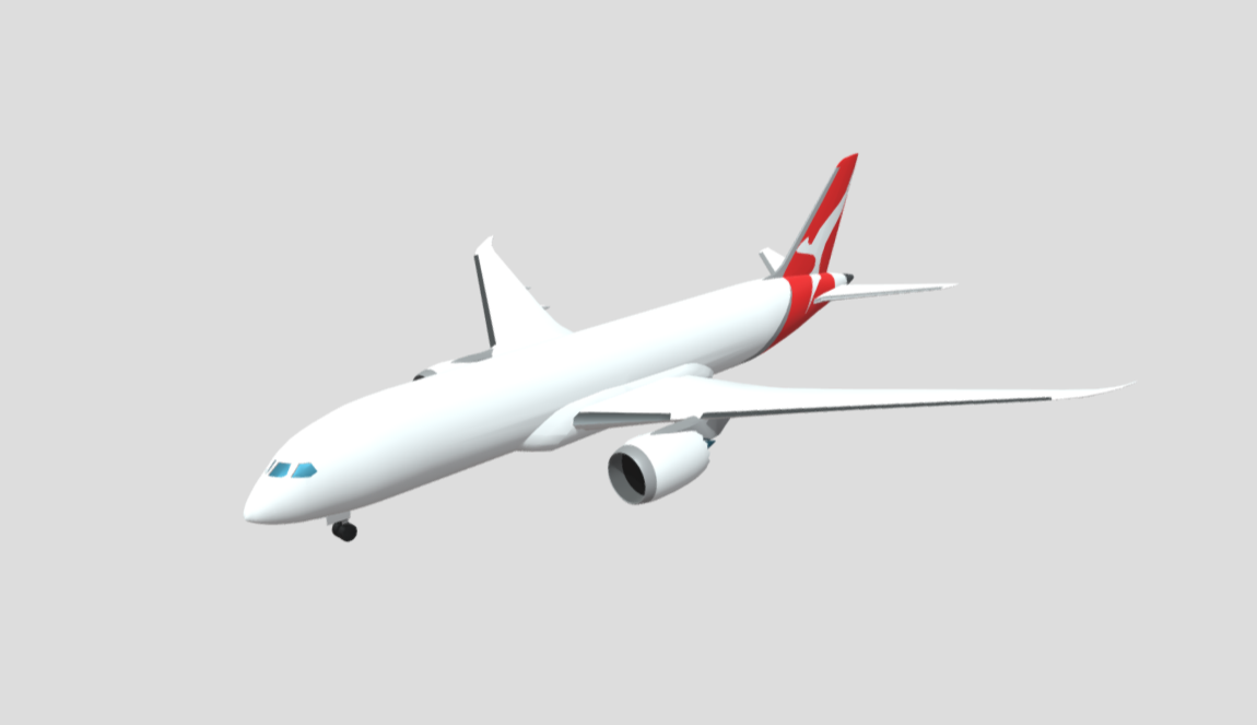 Boeing 787 free 3d model download