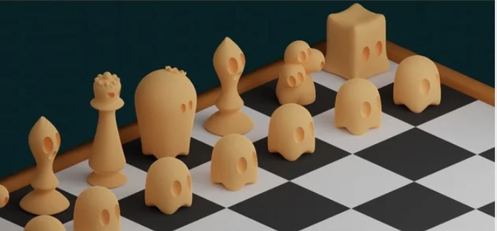 Cute Ghost Chess Set free 3d print model download