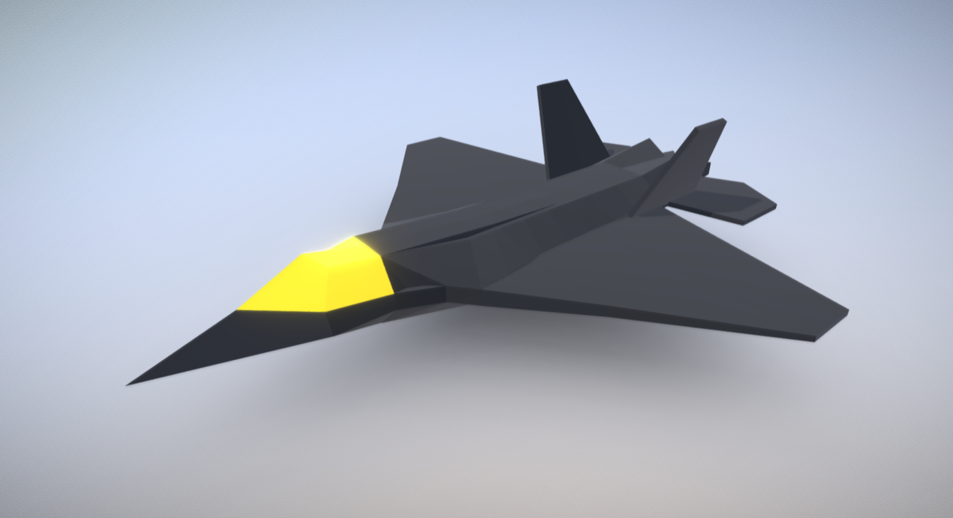 F22 low poly free 3d model download