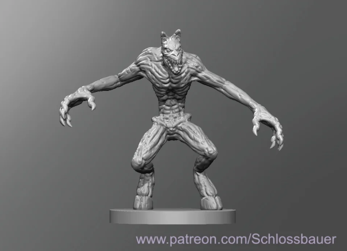 Lovecraft Ghoul free 3d print model download