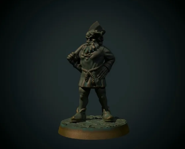 Lumberjack 28mm (supportless, FDM friendly free 3d print model download