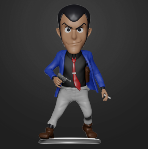 Lupin the Third Bobblehead free 3d print model download