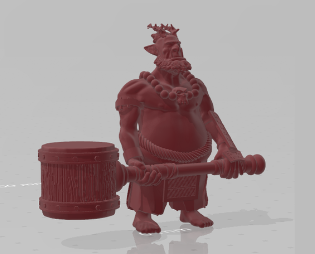 Oni with hammer free 3d print model download